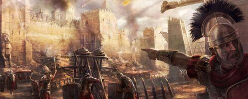 Wojska rzymskie przy oblężeniu