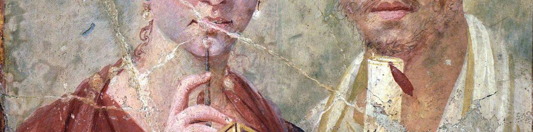 Fresco showing a Roman couple