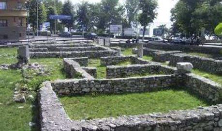Fundamenty rzymskich domów w Konstancji