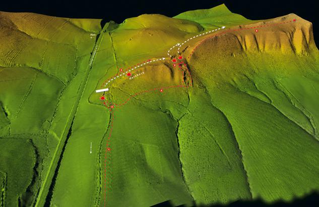 Rekonstrukcja przebiegu bitwy u stóp wzgórza Harzhorn w trakcie kampanii cesarza Maksymina Traka z 235 r. n.e.