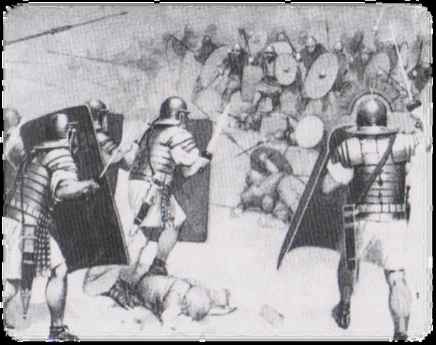 Legioniści w czasie walk