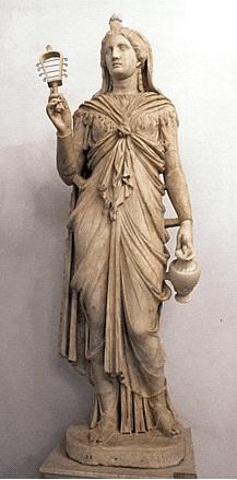 Posąg Izydy w rzymskich szatach