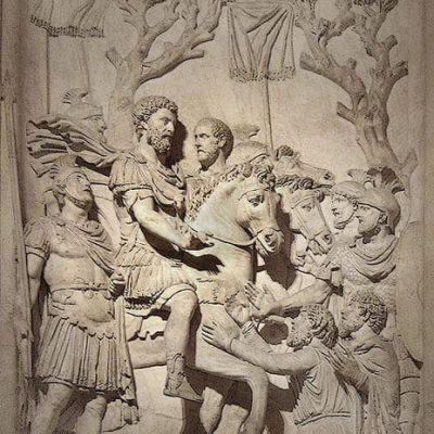 Marek Aureliusz przyjmuje kapitulację pokonanych