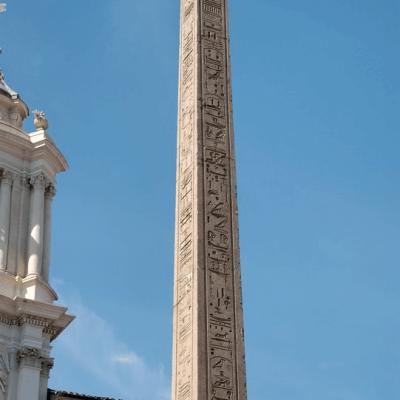 Obelisk cesarza Domicjana mierzący 16 m 53 cm