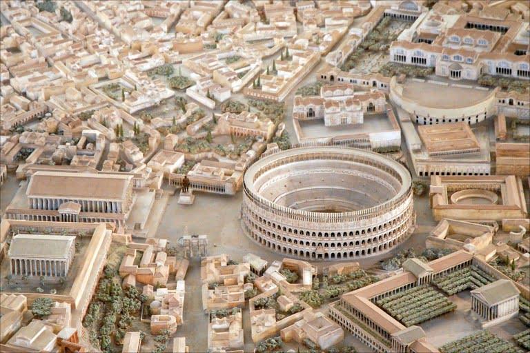 Koloseum na makiecie