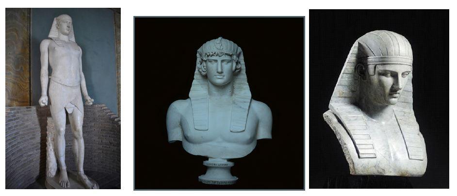 Posągi Antinousa w stylu egiptyzującym