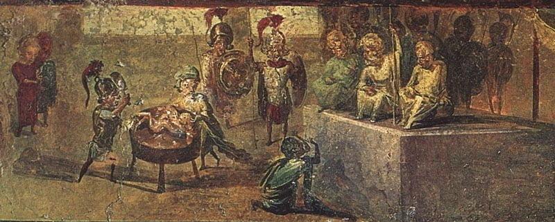 Fresk z Domu Lekarza w Pompejach