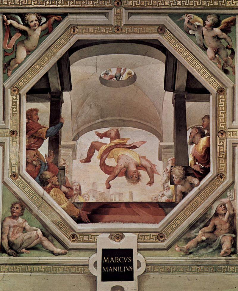 Manlius thrown from the Tarpeian Rock, Domenico Beccafumi