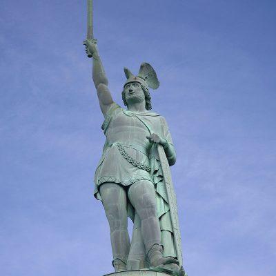 Hermannsdenkmal. Monument in honor of Arminius in Detmond, Germany