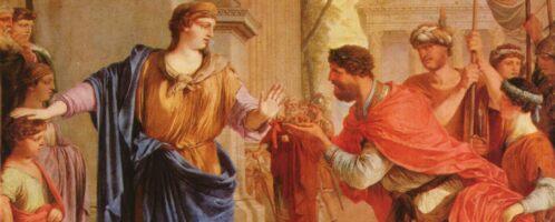 Kornelia odrzucająca koronę Ptolemeusza, Laurent de La Hyre