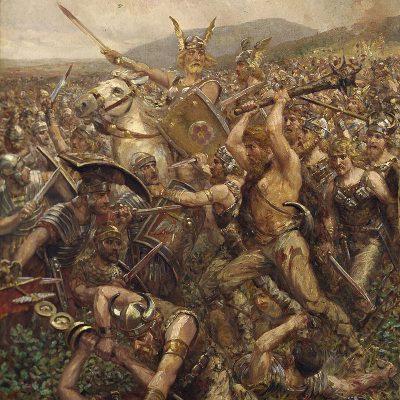 Otto Albert Koch, Battle in the Teutoburg Forest