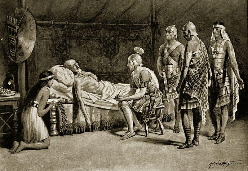 Scypion Młodszy miał być ponoć przy Masynissie na łożu śmierci