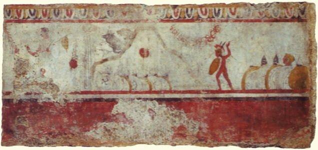 Fresk przedstawiający bitwę pod Caudium