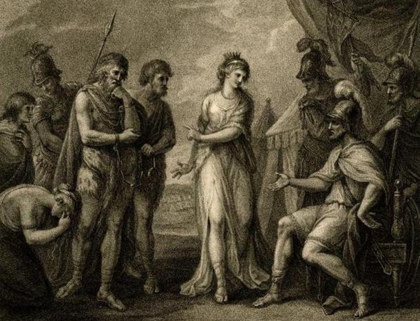 Karatakus przekazany Rzymianom przez Kartimanduę