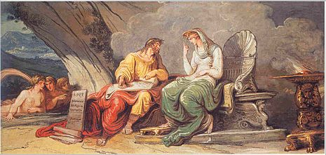 Felice Giani, Numa Pompiliusz otrzymuje prawa Rzymu od nimfy Egerii