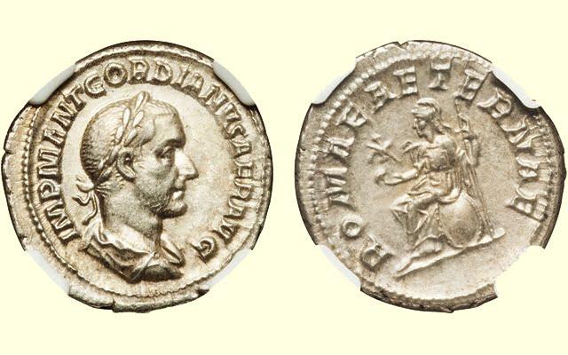 Moneta cesarza Gordiana I