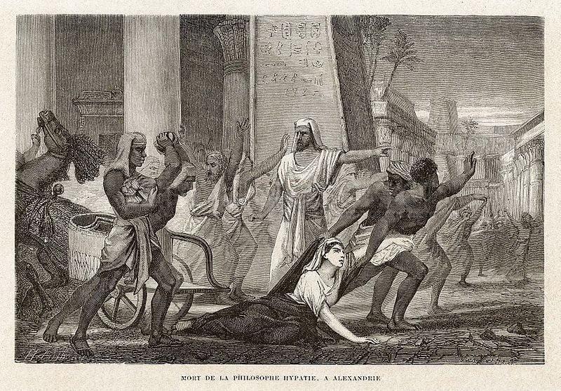 Śmierć filozof Hypatii, w Aleksandrii, Louis Figuier