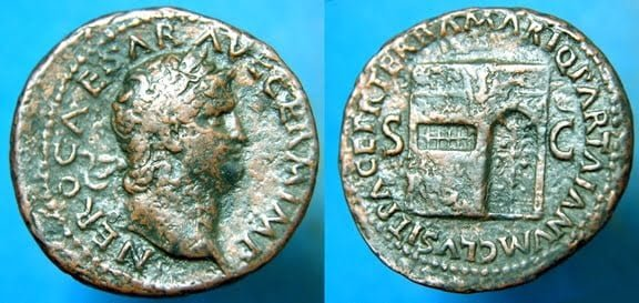Nero's coin minted in 66 CE
