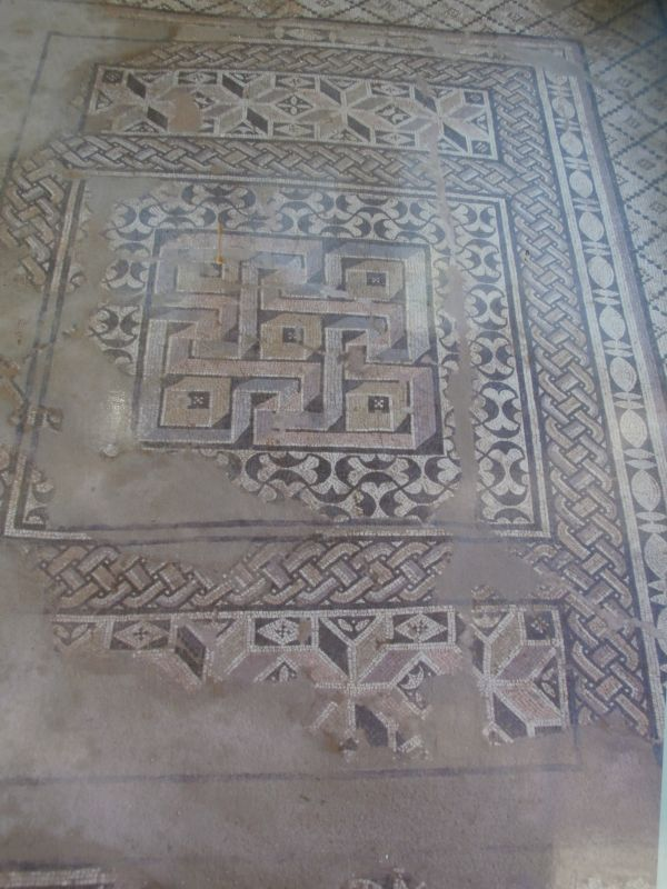 Mosaic floor in a Roman villa in Skala