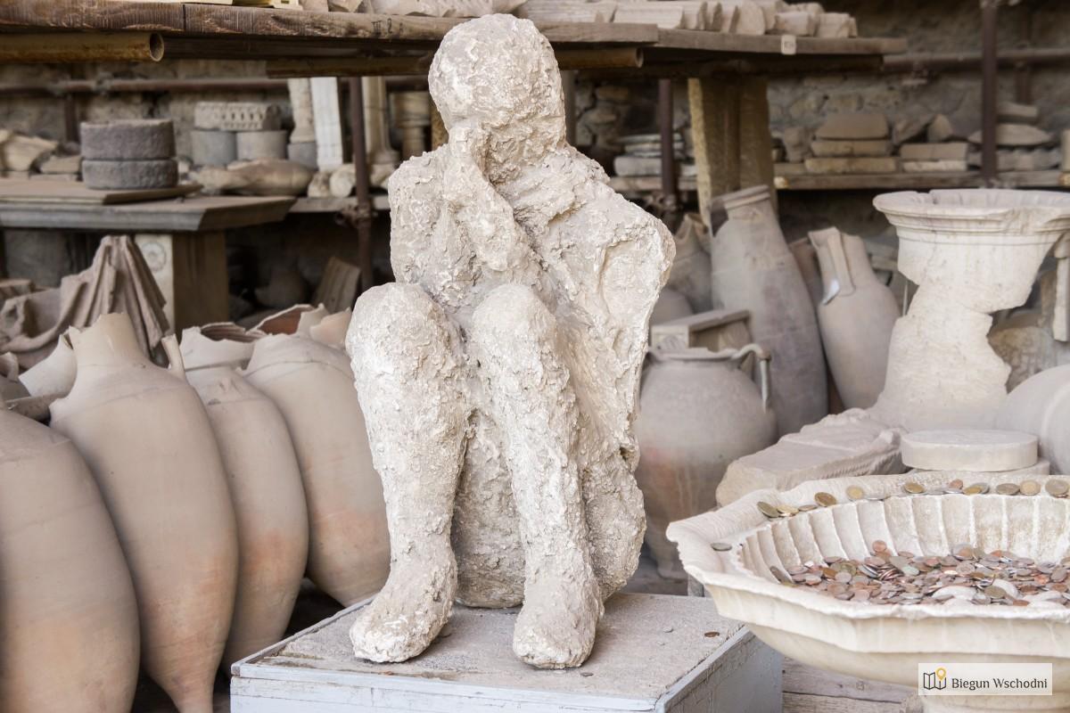 Odlew gipsowy mieszkańca Pompejów