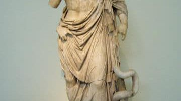Aesculapius with intertwined serpents