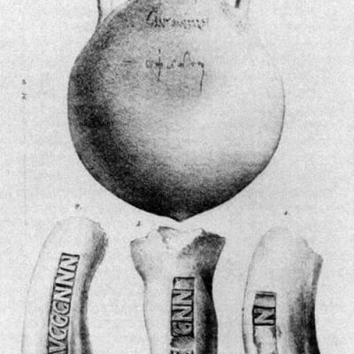 Przykładowe tituli picti z pieczęciami garncarzy znalezione na Monte Testaccio