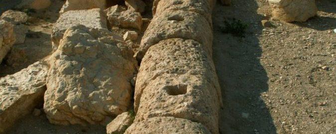 Roman drainage pipes in Palmyra