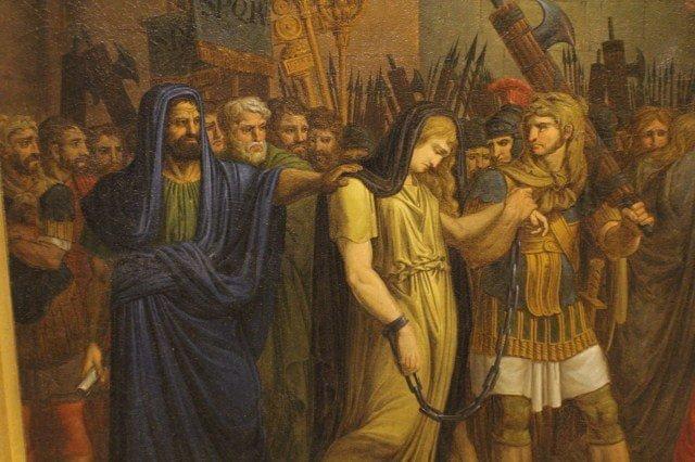 Zenobia w pochodzie tryumfalnym Aureliana