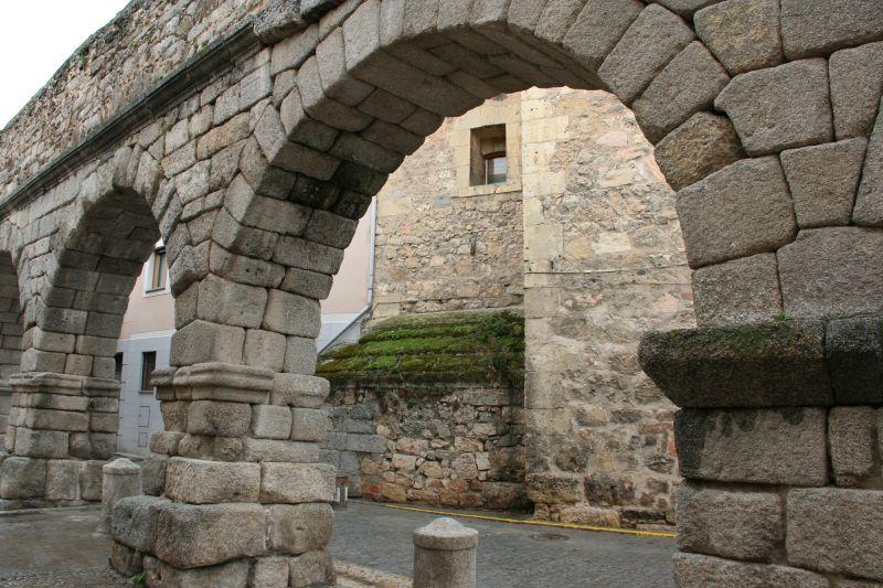 A restored fragment of the Segovia aqueduct