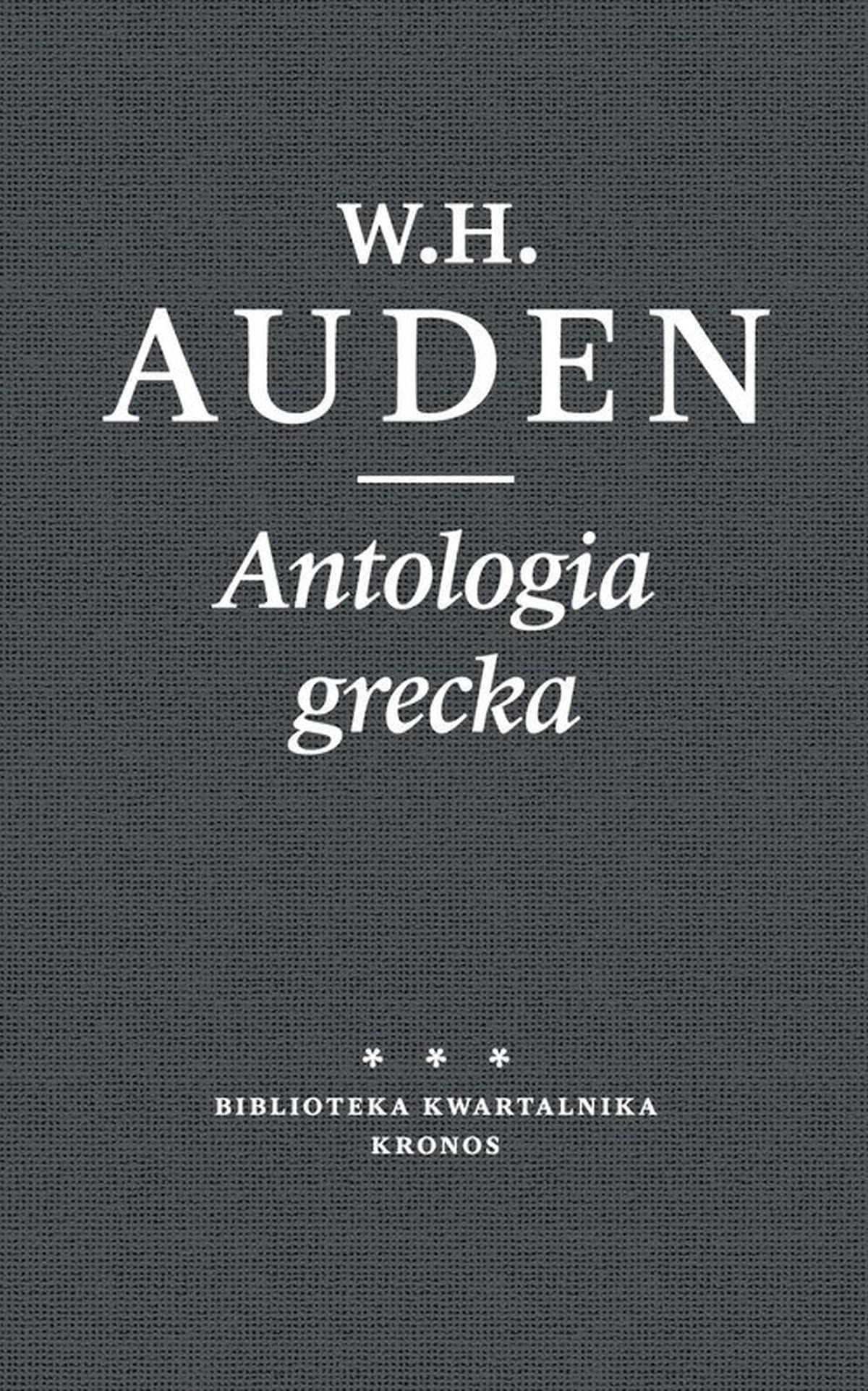 Antologia grecka księgi umarłych