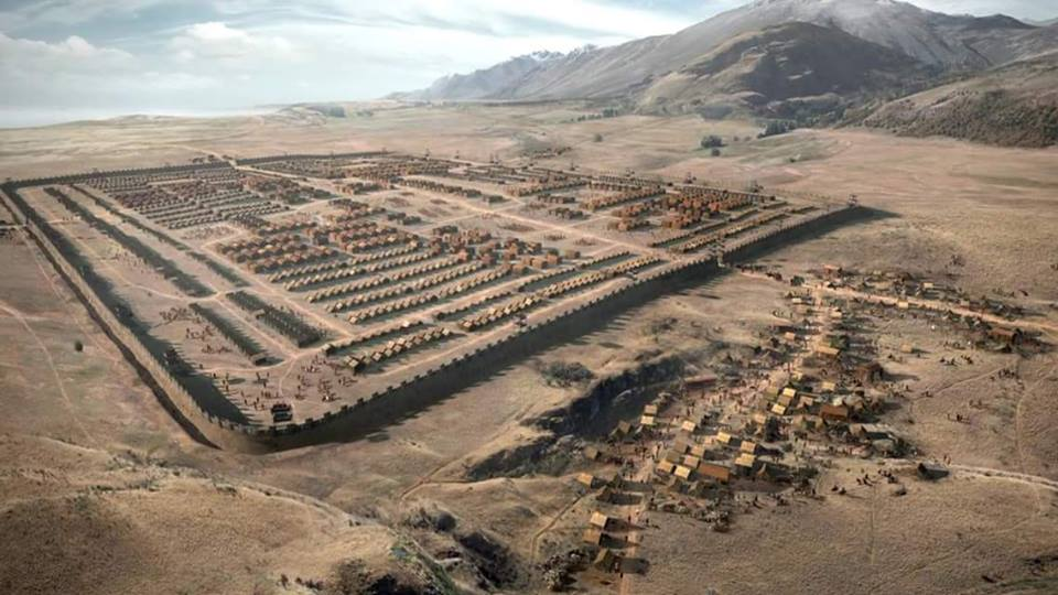 Visualization of the Roman camp