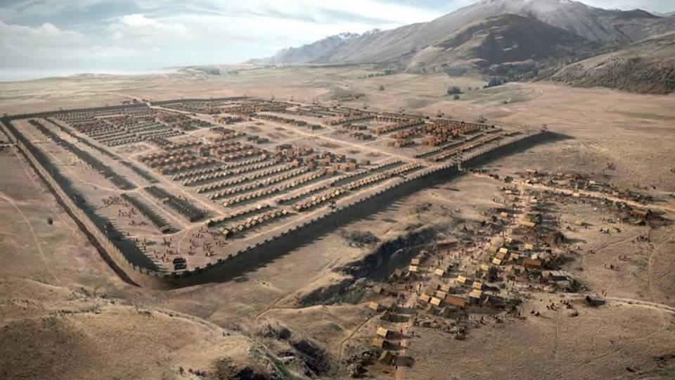 Wizualizacja rzymskiego obozu