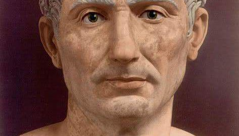 Reconstruction of the bust of the Roman leader - Julius Caesar