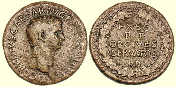 Moneta cesarza Klaudiusza