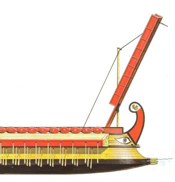 W bitwie pod Drepanum na rzymskich pokładach brakowało słynnych pomostów abordażowych