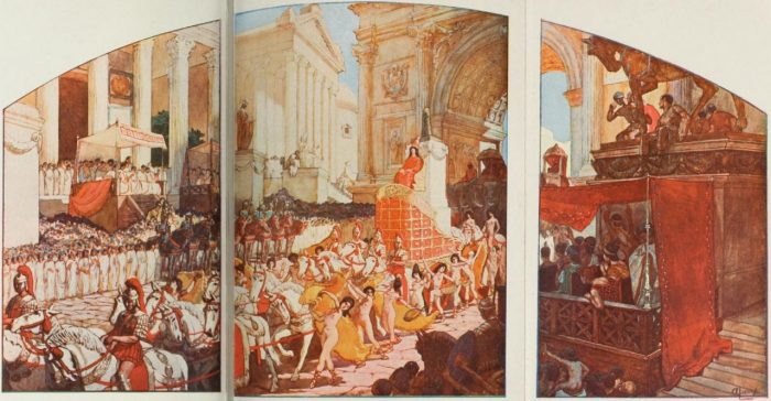 Triumph of Elagabalus. Illustration by Auguste Leroux from 1902