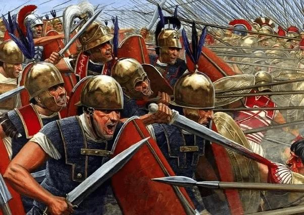 Piechota rzymska pod naporem falangi
