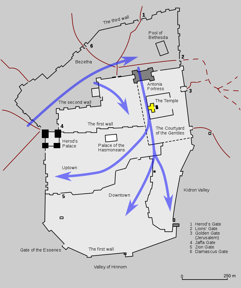 Plan oblężenia i zdobycia Jerozolimy