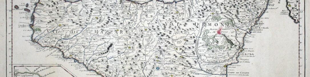 Mapa ukazująca Sycylię