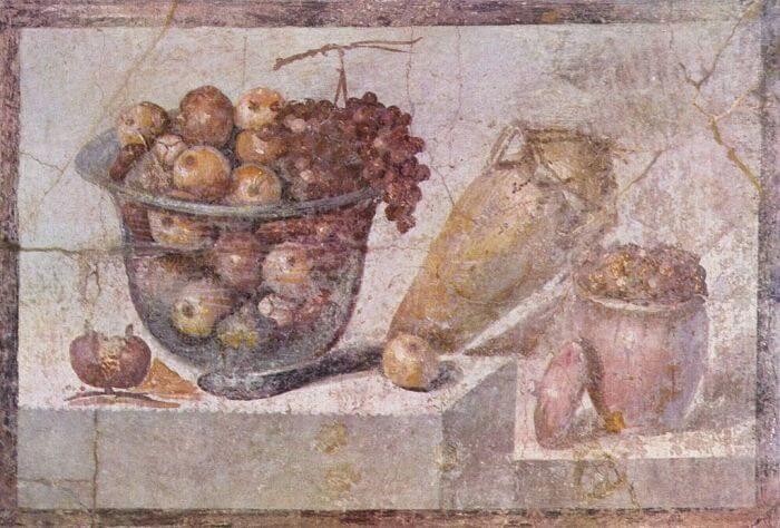Martwa natura wykonana w II stylu pompejańskim