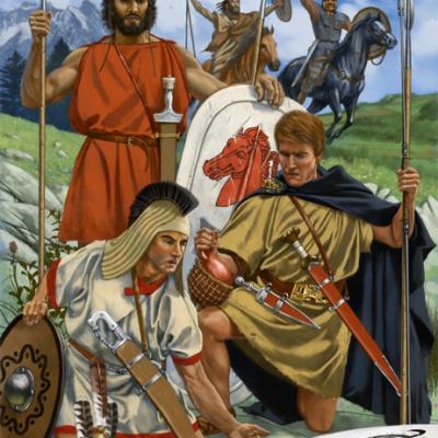 Miks plemion i narodów - armia Kartaginy. Wyróżnić możemy Ibera, Celta i Numida