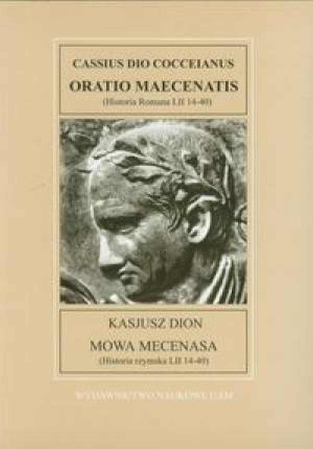 Mowa Mecenasa. Fontes Historiae Antiquae V