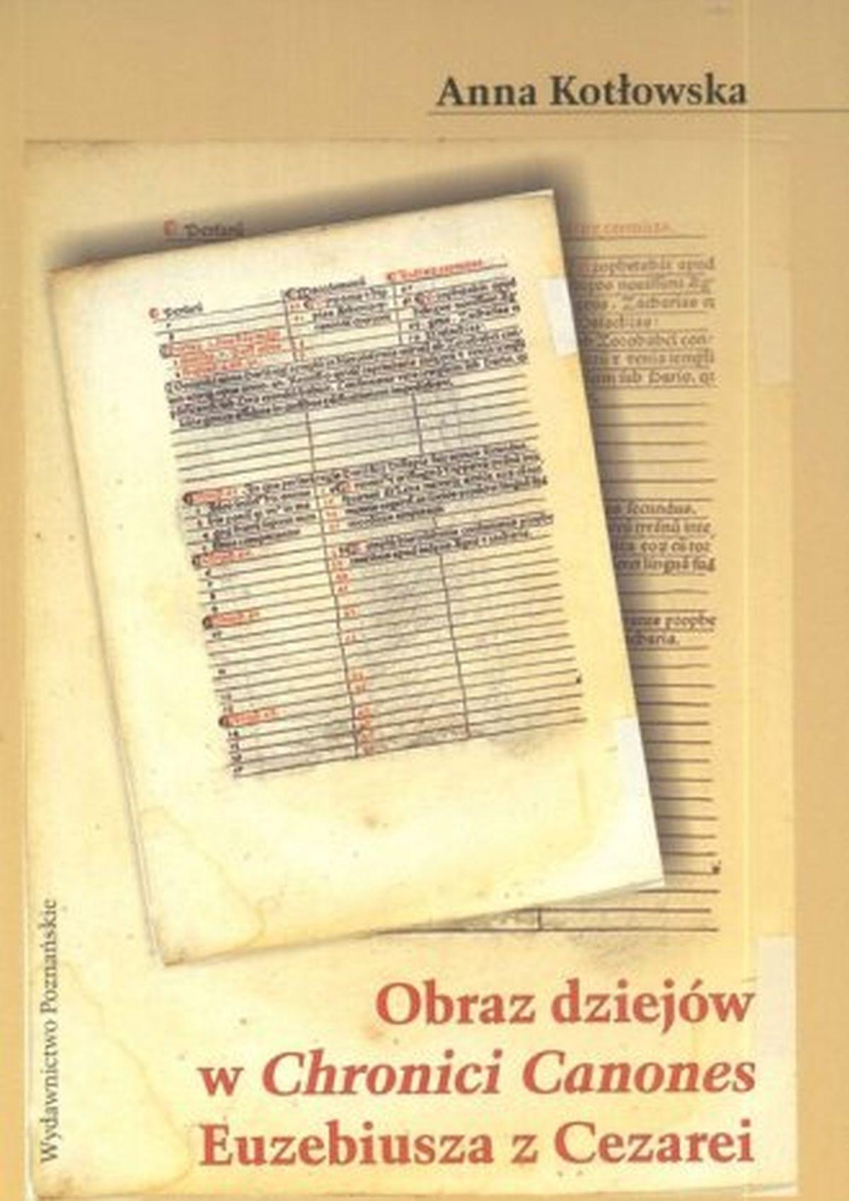 Obraz dziejów w Chronici Canones Euzebiusza z Cezarei