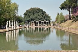 Fragment ogrodu w willi Hadriana