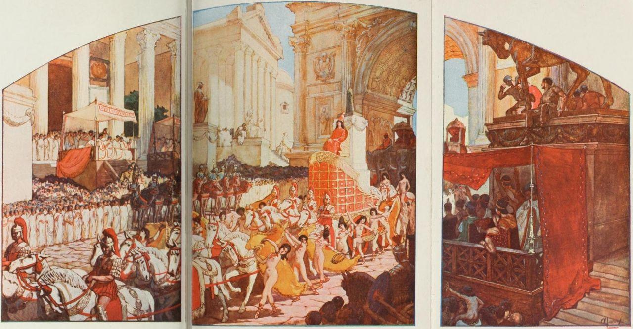 Triumf Heliogabala. Ilustracja Auguste Leroux z 1902 roku