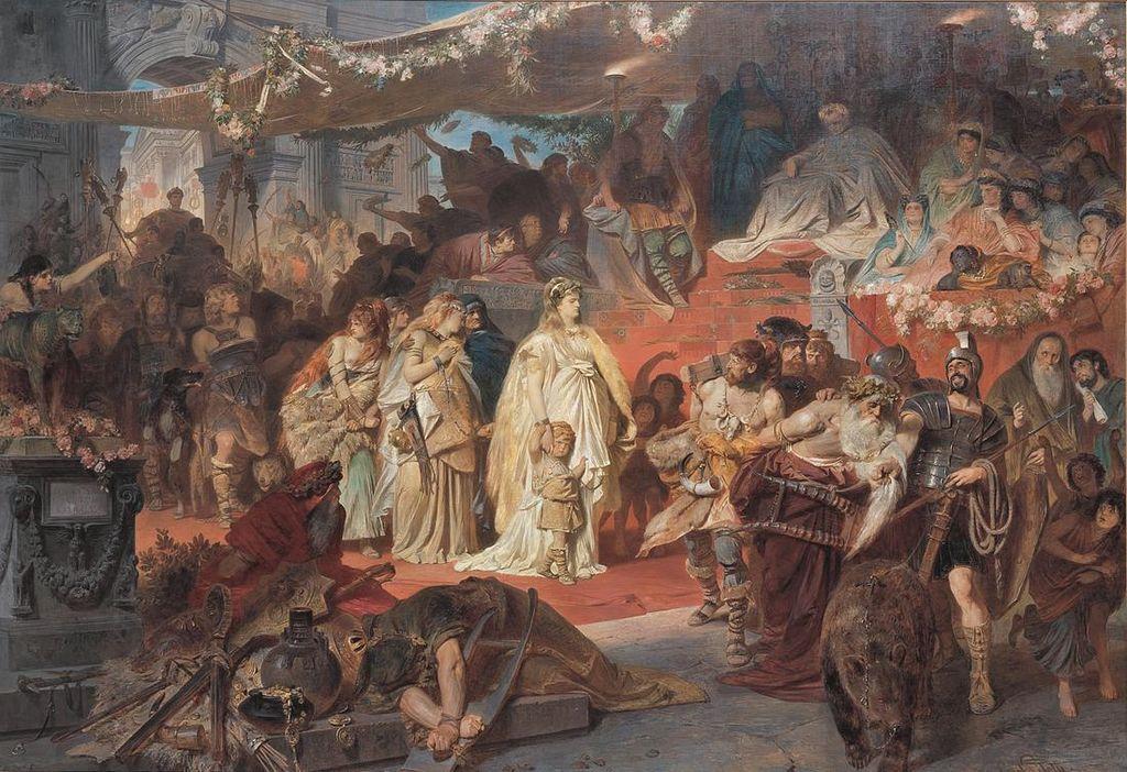 Karl von Piloty, Thusnelda at Germanicus 'triumph