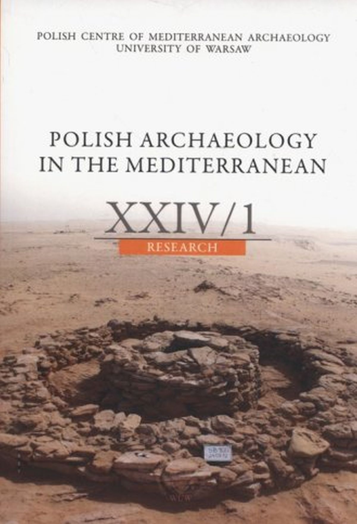 Polish Archaeology in the Mediterranean XXIV 1. Research