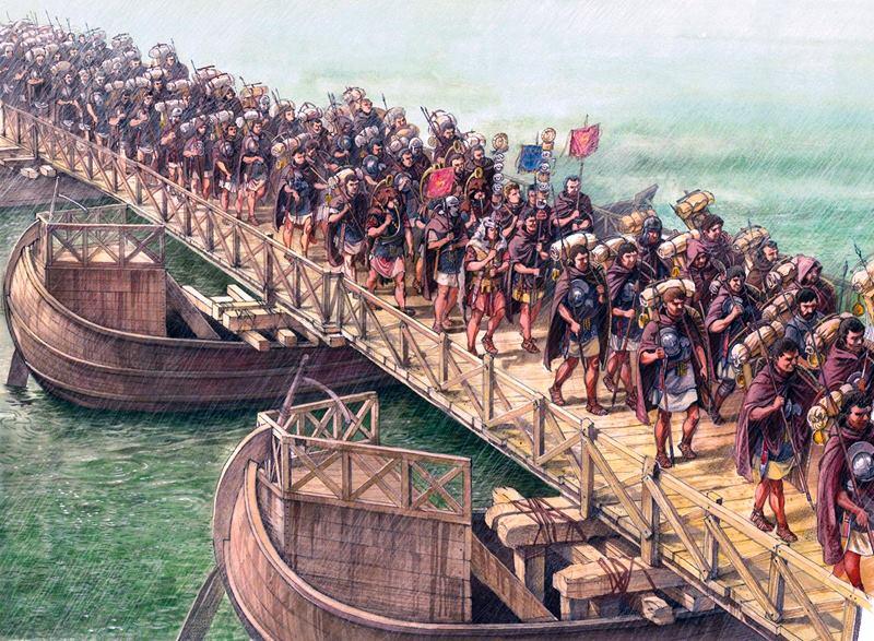 Przeprawa przez Dunaj rzymskich legionów w wojnie z Dakami