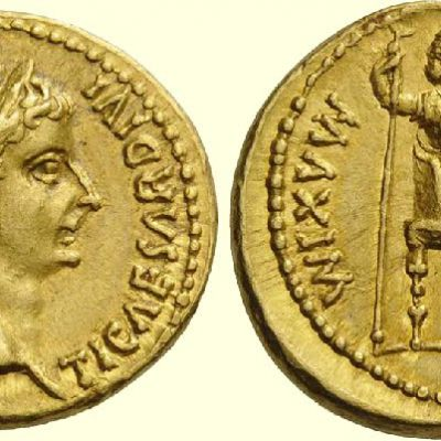 Moneta cesarza Tyberiusza