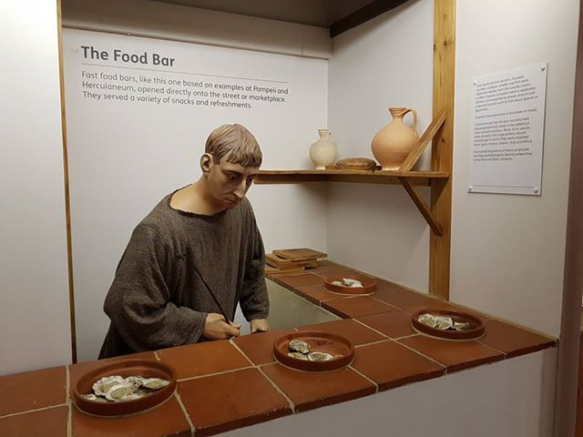 A photo from the Canterbury museum showing thermopolium
